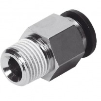 straight push-in male thread fittings