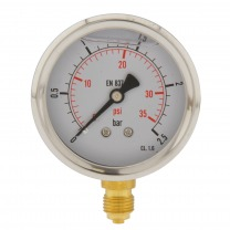 bourdon pressure gauges with under-connection