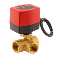 3-way brass electric ball valves
