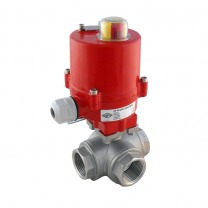 3-way stainless electric ball valves