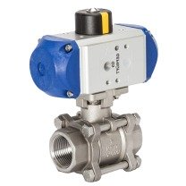 2-way pneumatic ball valves
