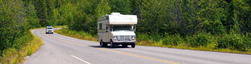 Camper on the road