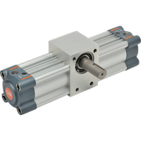 double acting rack-and-pinion rotary actuator