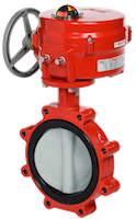 An electric actuated butterfly valve