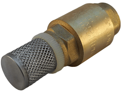 Typical foot valve with inlet strainer