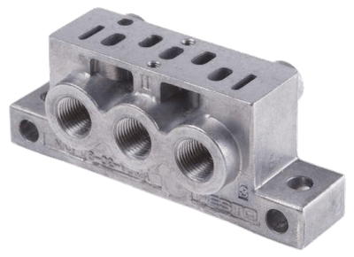 An example of an ISO 15407 manifold