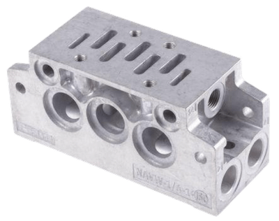 An example of an ISO 5599 manifold