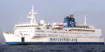 The ship Africa Mercy