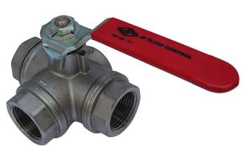 Example of a 3-way ball valve