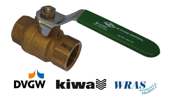 Common drinking water ball valve approvals DVGW, KIWA, WRAS