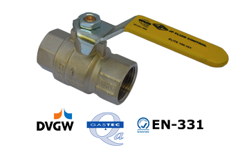 Common gas ball valve approvals DVGW, GASTEC, EN-331