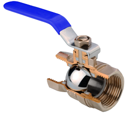 Ball valve sectional view