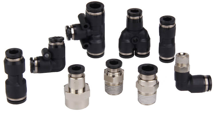 Air Ride Tee T 1//4 Fitting for Valves Air Bags