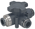 3/2-way ball valves with push-in fittings
