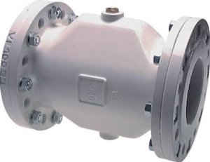Pneumatic pinch valve with flanged end connections